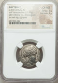 Ancients:Greek, Ancients: BACTRIA. Early Hellenistic era. Sophytes (?) (ca. 305-295 BC). AR tetradrachm (23mm, 17.03 gm, 6h). NGC Choice AU 5/5 - 4/5....