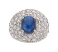 Estate Jewelry:Rings, Sapphire, Diamond, Platinum, Gold Ring. ...