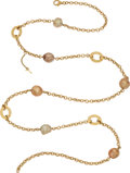 Estate Jewelry:Necklaces, South Sea Cultured Pearl, Diamond, Gold Necklace, Yvel...