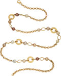 Estate Jewelry:Necklaces, South Sea Cultured Pearl, Gold Necklace, Yvel. ...
