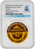 Explorers:Space Exploration, Neil Armstrong's Smokey the Bear Campaign Button From The Armstrong Family Collection™, CAG Certified....