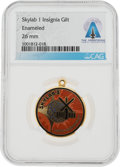 Explorers:Space Exploration, Skylab 1 (SL-2): Gilt Mission Insignia Pendant From The Armstrong Family Collection™, CAG Certified....