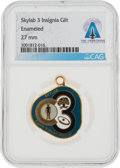 Explorers:Space Exploration, Skylab 3 (SL-4): Gilt Mission Insignia Pendant From The Armstrong Family Collection™, CAG Certified....