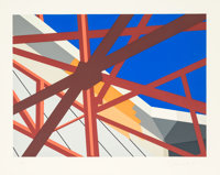 Allan D'Arcangelo (1930-1998) Web, 1979 Serigraph in colors on paper 30 x 38-1/2 inches (76.2 x 9