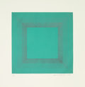 Prints & Multiples:Print, Richard Joseph Anuszkiewicz (b. 1930). Winter Suite (Green with Silver), 1979. Etching with aquatint in colors on wove p...