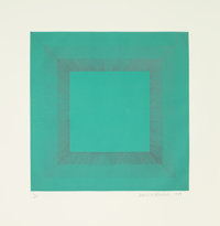 Richard Joseph Anuszkiewicz (b. 1930) Winter Suite (Green with Silver), 1979 Etching with aquatint i