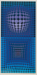 Prints & Multiples, Victor Vasarely (1906-1997). Two Plates, from VP Series 2, 1972. Screenprints in colors on board. 33 x 16-1/2 inches... (Total: 2 Items)