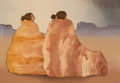 Prints & Multiples:Print, R.C. Gorman (1932-2005). Two Women on Rock Texture Blanket, 1981. Lithograph in colors on paper. 23 x 33 inches (58.4 x ...