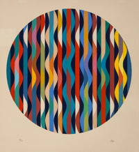 Yaacov Agam (b. 1928) Circle, c. 1980 Serigraph in colors on wove paper 27-1/4 x 25 inches (69.2