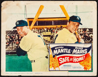 "Safe at Home (Columbia, 1962). Folded, Fine-. Lobby Card (11"" X 14""). Sports"