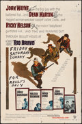 "Movie Posters:Western, Rio Bravo (Warner Brothers, 1959). Folded, Fine. One Sheet (27"" X 41""). Western.. ..."