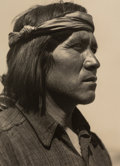 Photographs:Gelatin Silver, Ansel Adams (American, 1902-1984). Juan of Cochiti, New Mexico, 1929. Gelatin silver. 7-3/4 x 5-5/8 inches (19.7 x 14.3 ...