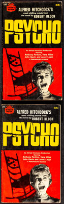 Psycho by Robert Bloch (Crest Books/Fawcett Publications, 1961). Fine/Very Fine. Paperback Books (2) Identical (160 Page...