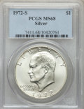 Eisenhower Dollars, 1972-S $1 SILVER MS68 PCGS. PCGS Population: (2064/25). NGC Census: (457/5). CDN: $75 Whsle. Bid for problem-free NGC/PCGS ...