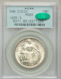 Commemorative Silver, 1935-S 50C San Diego MS65 PCGS. CAC. PCGS Population: (5924/1999). NGC Census: (2669/800). MS65. Mintage 70,132. ...
