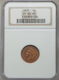 Proof Indian Cents, 1875 1C PR64 Red NGC. NGC Census: (8/6). PCGS Population: (23/19). CDN: $1,050 Whsle. Bid for problem-free NGC/PCGS PR64. M...