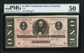 Confederate Notes:1864 Issues, T71 $1 1864 PF-4 Cr. 577 PMG About Uncirculated 50.. ...