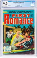 Golden Age (1938-1955):Romance, First Romance Magazine #25 (Harvey, 1953) CGC VF/NM 9.0 Cream tooff-white pages....