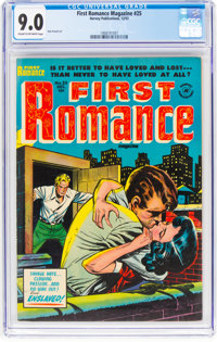 First Romance Magazine #25 (Harvey, 1953) CGC VF/NM 9.0 Cream to off-white pages