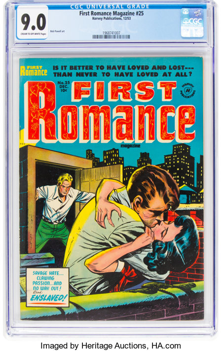 First Romance Magazine #25 (Harvey, 1953) CGC VF/NM 9.0 Cream to off-white pages....