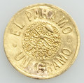 """Argentina, Argentina: Tierra del Fuego. Territory gold """"Popper"""" Gramo 1889 XFDetail (mounted, repaired, re-engraved)..."""