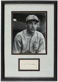 Autographs:Index Cards, Al Simmons Signed Index Card Display....
