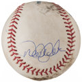 Autographs:Baseballs, 2006 Derek Jeter Game Used Single Signed Baseball....