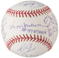 Autographs:Baseballs, 1977 New York Yankees - World Series Champs - Reunion Team Signed Baseball (20 Signatures)....