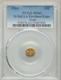 Expositions and Fairs, 1904 25C 1904 Louisiana Purchase Exposition, Gold 1/4, X-Tn1, MS63PCGS. LFRQ-3, R.3. Die varieties are listed at MEHartGol...
