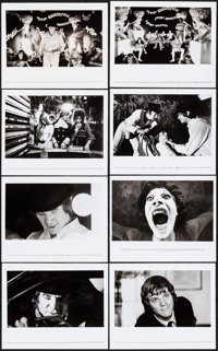 """A Clockwork Orange (Warner Brothers, 1972). Very Fine-. Photos (8) (Approx. 10"""" X 8""""). Science Fiction. ... (T..."""