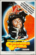 "Movie Posters:Science Fiction, A Clockwork Orange (Warner Brothers, 1971/R-1982). Fine/Very Fine. Presskit (11"" X 14"") & One Sheet (27"" X 41""). Philip Cast... (Total: 2 Items)"