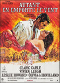 """Movie Posters:Academy Award Winners, Gone with the Wind (CIC, R-1989). Folded, Very Fine+. Full-Bleed French Grande (47"""" X 63""""). Academy Award Winners.. ..."""