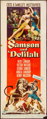 "Samson and Delilah (Paramount, 1949). Rolled, Fine. Insert (14"" X 36""). Adventure"