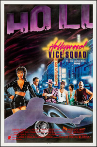 "Hollywood Vice Squad & Other Lots (Cinema Group, 1986). Flat Folded & Folded, Very Fine. One Sheets (5) (27""..."