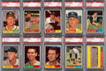 Baseball Cards:Lots, 1961 Topps Baseball PSA Mint 9 Collection #'s 200-299 (80)....
