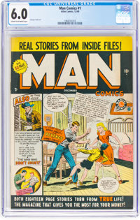 Man Comics #1 (Atlas, 1949) CGC FN 6.0 Cream to off-white pages