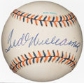 Autographs:Baseballs, 1992 Ted Williams All-Star Game Single Signed Baseball....
