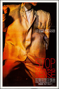 "Stop Making Sense (Island Alive, 1984). Rolled, Very Fine-. One Sheets (5) Identical (27"" X 41""). Rock and Rol..."