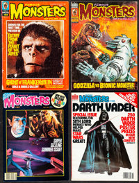 """Famous Monsters of Filmland (Warren Publishing, 1968-1982). Very Fine-. Magazines (8) (Multiple Pages, 8.5"""" X 11.5&..."""