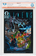 Modern Age (1980-Present):Science Fiction, Aliens #1 Verified Signature (Dark Horse, 1988) CBCS VF/NM 9.0White pages....