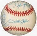 Autographs:Baseballs, 3,000 Hits Club Multi-Signed Baseball (15 Signatures)....