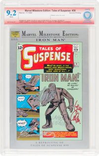 Marvel Milestone Edition: Tales of Suspense #39 Stan Lee and Others Verified Signatures (Marvel, 1993) CBCS NM- 9.2 Whit...