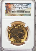 2013-W $50 One-Ounce Gold Buffalo, Reverse Proof, Chicago ANA, PR70 NGC. NGC Census: (953). PCGS Population: (459). ...(...