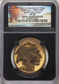 Modern Bullion Coins, 2013-W $50 One-Ounce Gold Buffalo, Reverse Proof, 100th Anniversary, Early Releases, PR70 NGC. NGC Census: (5913). PCGS Pop...
