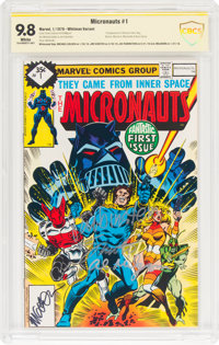 Micronauts #1 Whitman Variant - Witnessed Signatures (Marvel, 1979) CBCS NM/MT 9.8 White pages