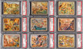 Non-Sport Cards:Lots, 1938 R69 Horrors of War Low Numbers PSA NM-MT Collection (9 Different). ...