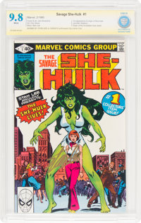 The Savage She-Hulk #1 Stan Lee Authentic Signature (Marvel, 1980) CBCS NM/MT 9.8 White pages
