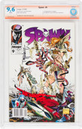 Spawn #9 Todd McFarlane Verified Signature (Image, 1993) CBCS NM+ 9.6 White pages