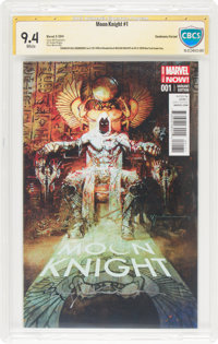 Moon Knight #1 Sienkiewicz Variant - Authentic Signature (Marvel, 2014) CBCS NM 9.4 White pages