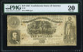 Confederate Notes:1861 Issues, T30 $10 1861 PF-6 Cr. 242 PMG Very Fine 20.. ...
